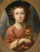 Charles Zacharie Landelle - An Angel Holding a Chalice