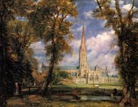 Constable, John - Salisbury Cathedral from the Bishops' Grounds