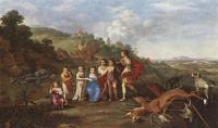 Cornelis van Poelenburgh - Children Of Frederick V Prince Elector Of Pfalz And King Of Bohemia
