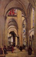 Corot, Jean-Baptiste-Camille - Interior of Sens Cathedral
