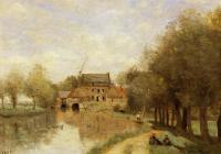 Corot, Jean-Baptiste-Camille - Arleux-du-Nord, the Drocourt Mill, on the Sensee