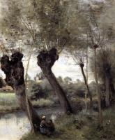 Corot, Jean-Baptiste-Camille - Saint-Nicholas-les-Arras; Willows on the Banks of the Scarpe