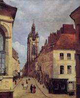 Corot, Jean-Baptiste-Camille - The Belfry of Douai