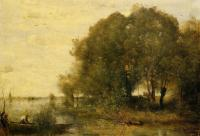 Corot, Jean-Baptiste-Camille - Wooded Peninsula