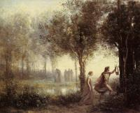 Corot, Jean-Baptiste-Camille - Orpheus Leading Eurydice from the Underworld