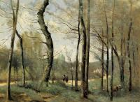 Corot, Jean-Baptiste-Camille - First Leaves, near Nantes