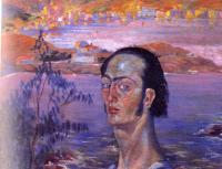Dali, Salvador - self-portrait with the neck of raphael