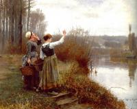 Daniel Ridgway Knight - Hailing the Ferryman