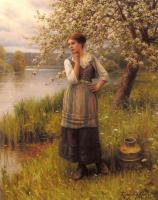 Daniel Ridgway Knight - Beneath The Apple Tree