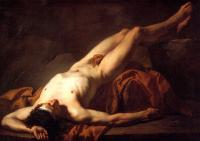 David, Jacques-Louis - Nude Study of Hector
