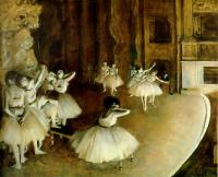 Degas, Edgar - Ballet Rehearsal on Stage