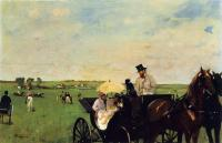 Degas, Edgar - A Carriage at the Races