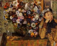 Degas, Edgar - A Woman Seated beside a Vase of Flowers