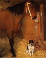 Degas, Edgar - At the Stables, Horse and Dog