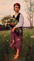 Delobbe, Francois Alfred - The Flower Picker