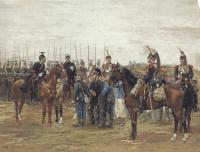 Detaille, Edouard - A French Cavalry Officer Guarding Captured Bavarian Soldiers