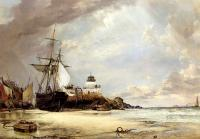 Edward William Cooke - The Pier And bay Of St Ives Cornwall