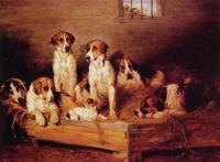 Emms, John - Foxhounds and Terriers in a Kennel
