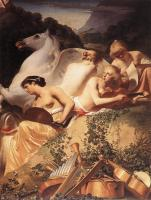 Everdingen, Caesar van - The Four Muses with Pegasus