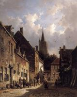 Eversen, Adrianus - A Dutch Street Scene