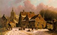 Eversen, Adrianus - A Village In Winter
