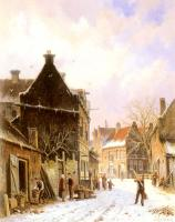 Eversen, Adrianus - A Village Street Scene in Winter