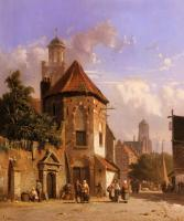 Eversen, Adrianus - View Of A Dutch Street