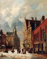 Eversen, Adrianus - A View In A Town In Winter