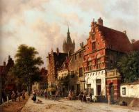Eversen, Adrianus - A View In Delft