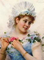 Federico Andreotti - A Young Girl With Roses