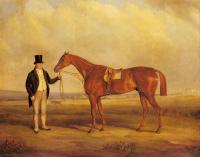 Ferneley, John - A Gentleman Holding Dangerous, the Winner of the Derby