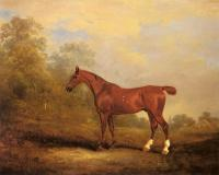 Ferneley, John - Cecil, a favorite Hunter of the Earl of Jersey in a Landscap