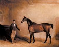 Ferneley, John - Mr Hogg's Claxton and a Groom in a Stable