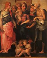 Fiorentino, Rosso - Madonna Enthroned with Four Saints