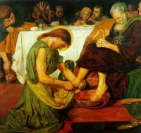 Ford Madox Brown - Christ washing