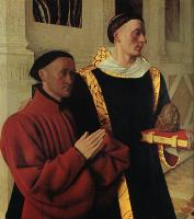 Fouquet, Jean - Estienne Chevalier with St Stephen