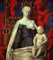 Fouquet, Jean - Virgin and Child Surrounded by Angels