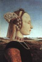 Francesca, Piero della - Portrait of Battista Sforza