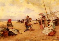 Francisco Miralles Galup - The Artist Sketching On A Beach