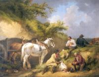 George Morland - The Labourers Luncheon