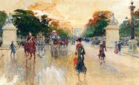 Georges Stein - Busy Traffic On The Champs Elysees Paris