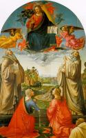 Ghirlandaio, Domenico - Christ in Heaven with Four Saints and a Donor