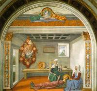 Ghirlandaio, Domenico - Announcement of Death to St Fina