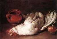 Giacomo Ceruti - Still Life With Hen Onion And Pot