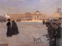 Giuseppe de Nittis - The Place de Carrousel and the Ruins of the Tuileries Palace