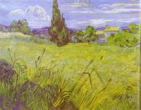 Gogh, Vincent van - Green Wheat Field with Cypress. Saint-Remy
