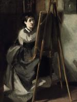 Gonzales, Eva - La jeune eleve, Portrait of Sister as Artist