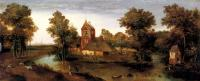 Grimmer, Abel - A Moated Tower With Farmhouses