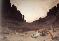 Guillaumet, Gustave - Dogs of the Douar Devouring a Dead Horse