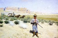 Henry Farny - Defending the Stagecoach